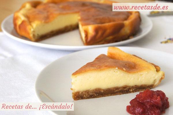 Receta de tarta de queso al horno fácil