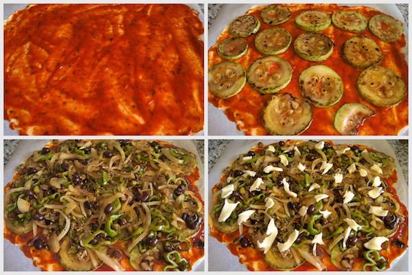 Cómo hacer pizza vegetariana
