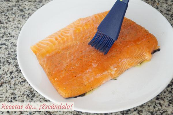 Lomos de salmon marinado