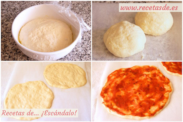 Masa de pizza italiana