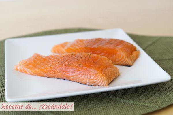 Salmon marinado casero
