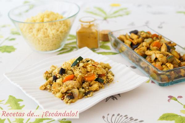 Receta de cous cous o cuscus con verduras y pollo