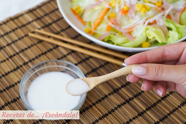 Receta de salsa de la ensalada china