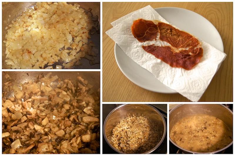 Receta de risotto de setas y crujiente de jamón