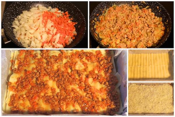 Preparar la receta de lasaña de carne a la boloñesa