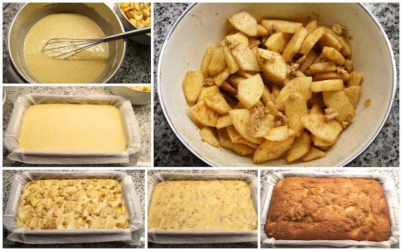 Receta de bizcocho de manzana y nueces, esponjoso y casero
