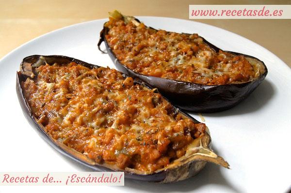 Berenjenas rellenas de carne picada al microondas recetas de esc ndalo - Berenjenas rellenas al horno ...
