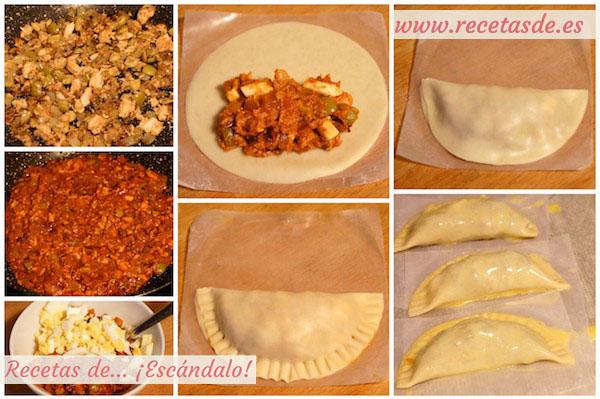 Receta de empanadillas de atún, huevo y tomate caseras