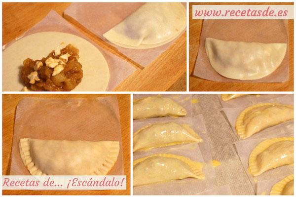 Receta de empanadillas rellenas de manzana y nueces