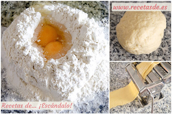 C mo hacer pasta fresca receta y uso de la m quina recetas de esc ndalo - Maquina para hacer macarrones ...