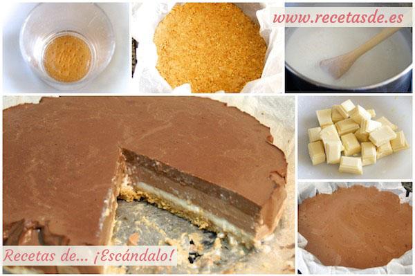 Preparar tarta de tres chocolates paso a paso