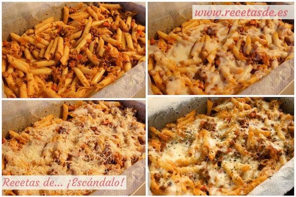 Cómo preparar macarrones al horno gratinados
