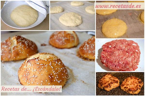 Receta de hamburguesas caseras con queso de cabra y cebolla caramelizada