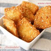 Galletas saladas de mantequilla y queso