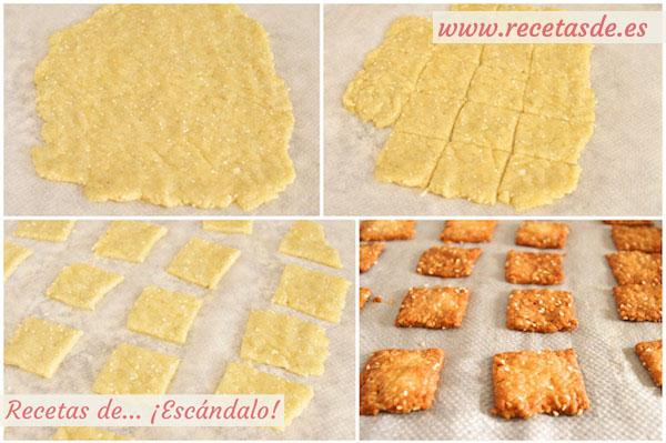 Preparar la receta de galletas saladas de mantequilla y queso