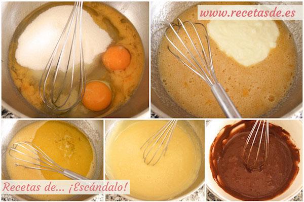 Bizcocho m rmol de yogur y chocolate casero y esponjoso for Como se hace el marmol