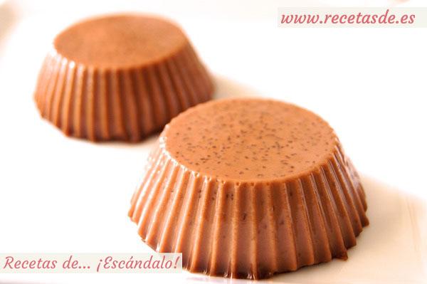 Panacota o panna cotta de Nutella, un postre delicioso