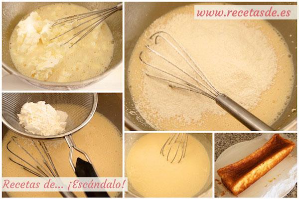 Receta de bizcocho muy esponjoso de queso y yogur