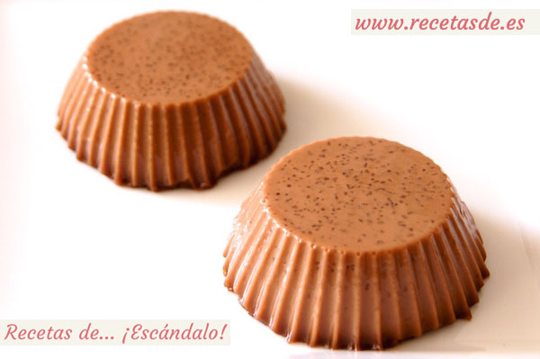 Receta de panacota o panna cotta de Nutella, un postre delicioso