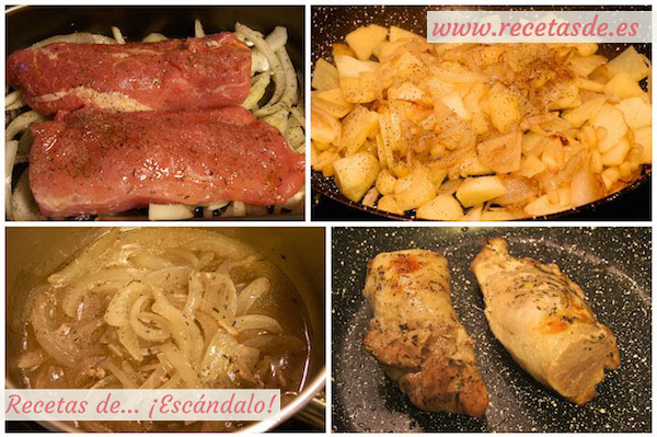 Solomillo de cerdo al horno en salsa con manzana - Como preparar un solomillo de cerdo al horno ...