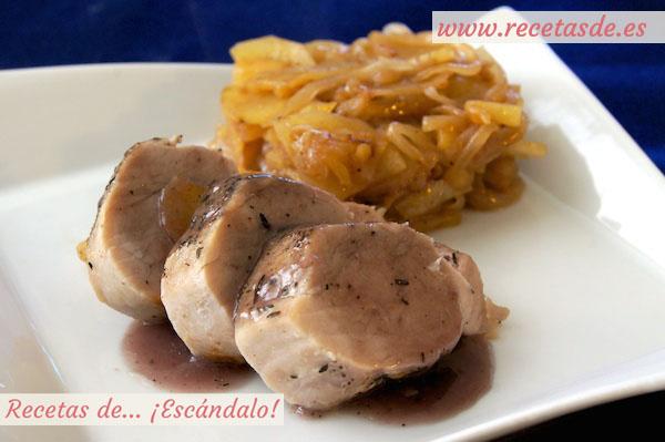 Solomillo de cerdo al horno en salsa con manzana - Solomillo a la pimienta al horno ...