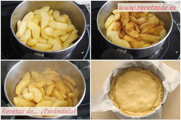 Cómo hacer tarta tatin de manzana con hojaldre, casera y fácil