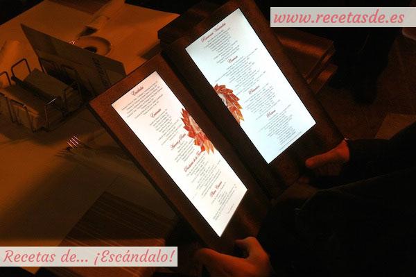 Carta electrónica restaurante Los Portales - Cáceres