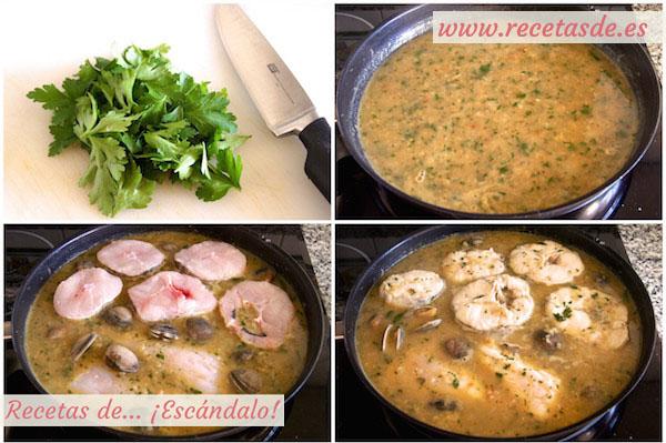 Cómo hacer merluza en salsa verde con almejas, muy fácil