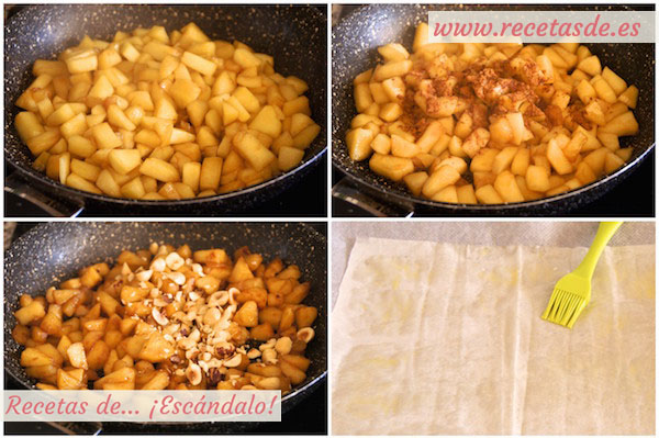 Cómo hacer strudel de manzana fácil. Receta tradicional alemana