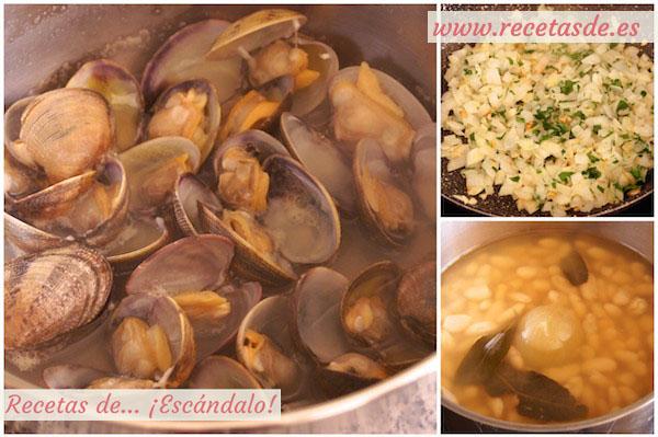 Cómo preparar fabes con almejas. Receta tradicional asturiana