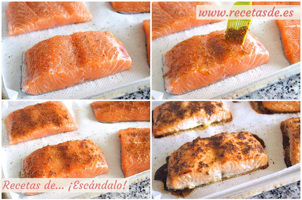 Como Cocinar Salmon A La Plancha   Salmon Al Horno Con Salsa De Mostaza Y Miel Recetas De Escandalo