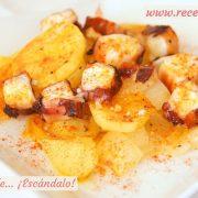 Pulpo al horno con patatas al estilo murciano