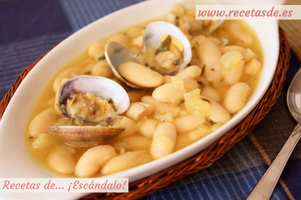 Receta de fabes con almejas, tradicional asturiana