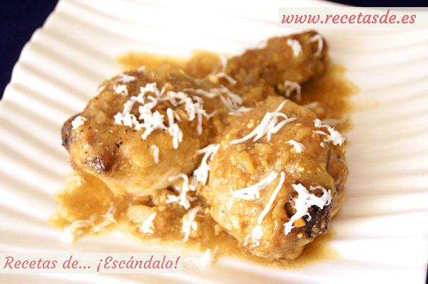 Receta de pollo en pepitoria. Receta tradicional