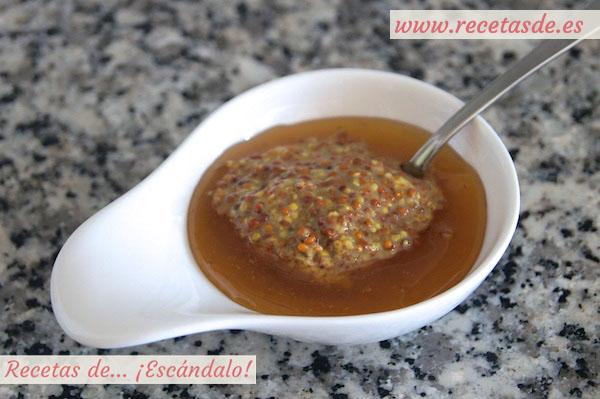 Receta de salsa de mostaza y miel