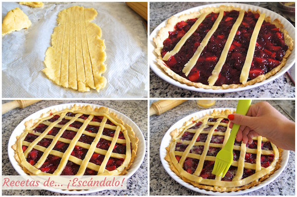 Como hacer la receta de tarta de cerezas americana o Cherry Pie