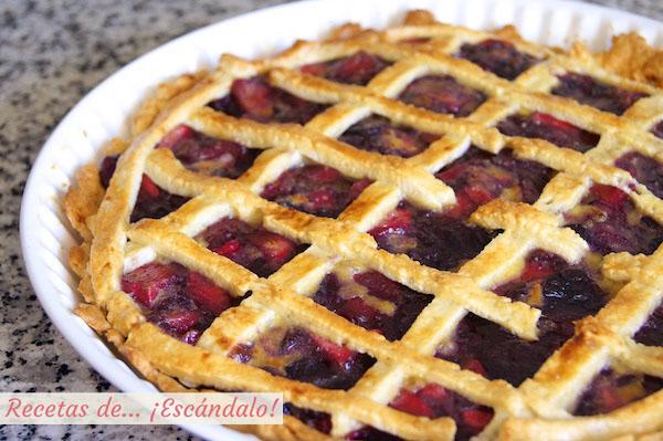 Receta de tarta de cerezas americana o Cherry Pie casera