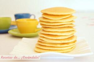 Como hacer tortitas americanas caseras o pancakes, la mejor receta