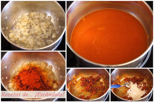 Como preparar salsa brava casera y facil