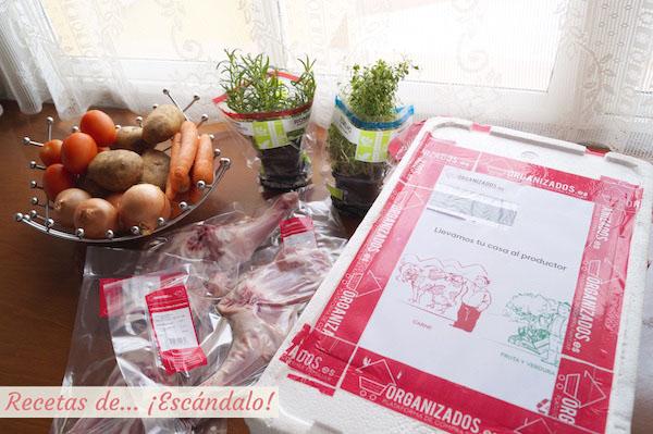 Ingredientes para preparar paletilla de cordero lechal asada al horno