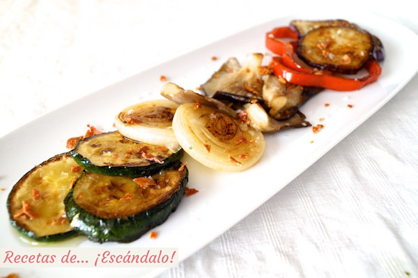 Receta de verduras a la plancha salteadas