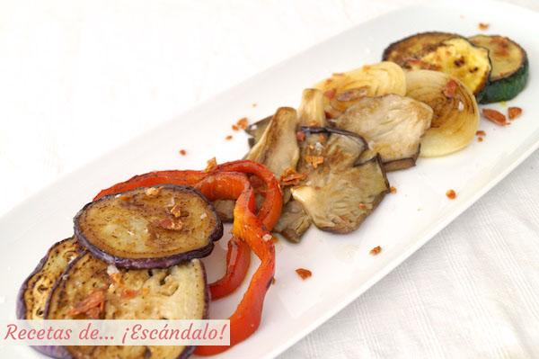 Verduras a la plancha salteadas