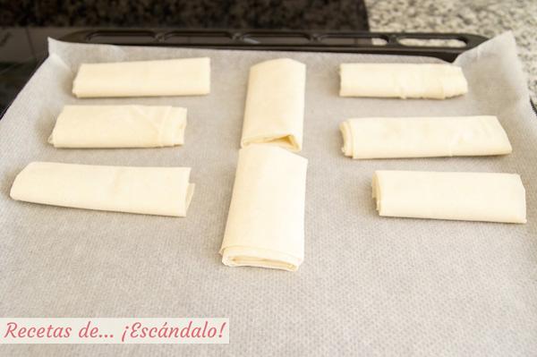 Crujiente de queso brie y pasta filo