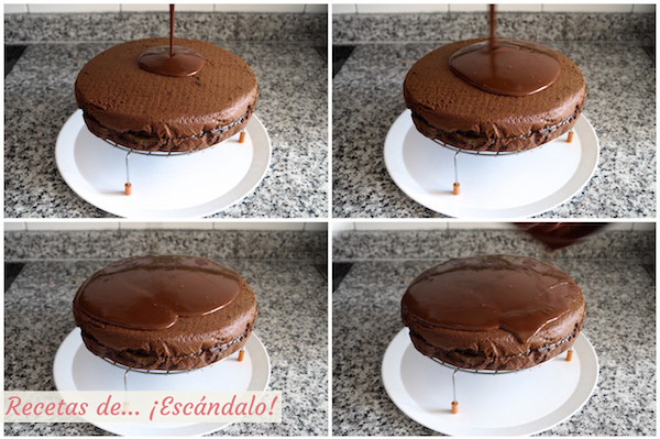 Glaseado de chocolate para la Tarta Sacher