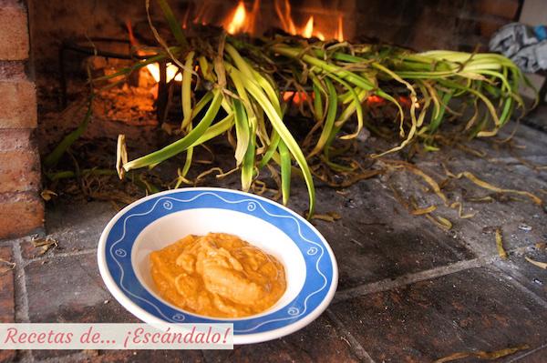 Receta de salsa romesco, la salsa de los calçots o calsots
