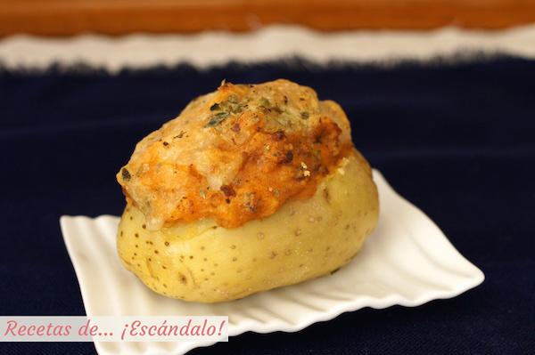 Receta de patatas rellenas de carne picada al horno