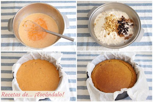 Como hacer carrot cake o pastel de zanahoria