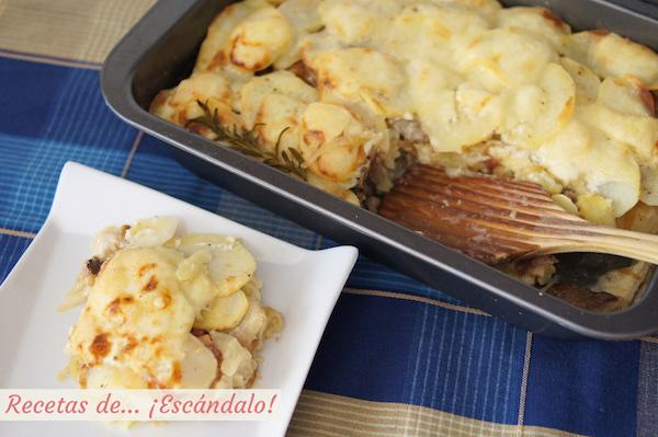 Como hacer patatas al horno gratinadas o tartiflette