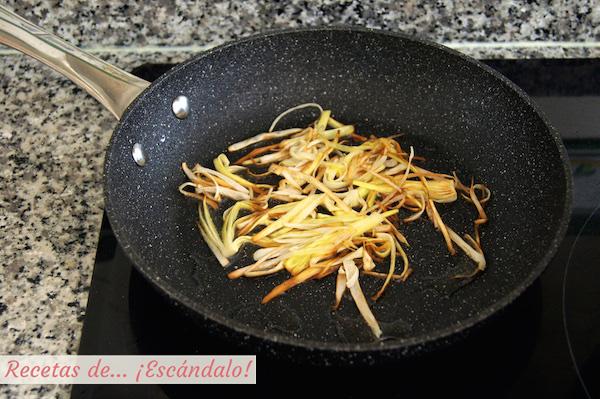 Como preparar crujiente de puerro