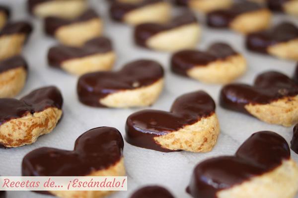 Receta de palmeritas de hojaldre con chocolate